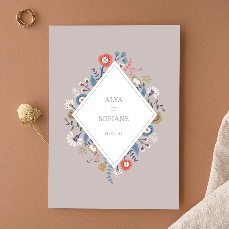Faire-part de mariage Rhapsody, floral, 15 x 21 cm