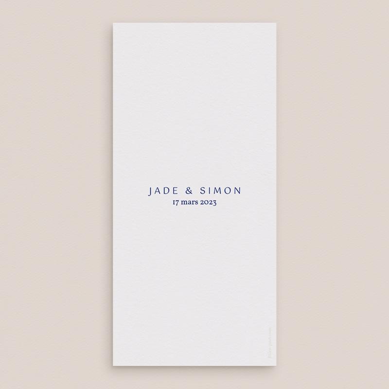 Menu mariage Rhapsody, fleurs Bleues, 21 x 10 pas cher