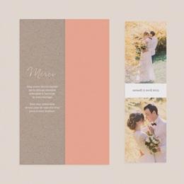 Carte de remerciement mariage Fleurs d'Aquarelle Kraft, 2 en 1 pas cher
