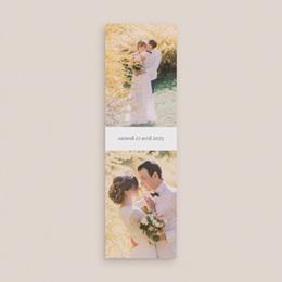 Carte de remerciement mariage Fleurs d'Aquarelle Kraft, 2 en 1 gratuit