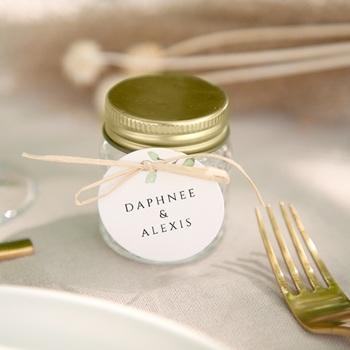 Etiquettes cadeaux mariage Feuilles Nature Champêtre, Souvenir
