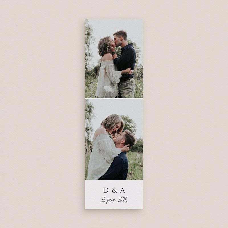Faire-part de mariage Feuilles Nature Champêtre, 2 en 1, 2 photos gratuit