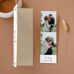 Faire-part de mariage Feuilles Nature Champêtre, 2 en 1, 2 photos