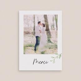 Carte de remerciement mariage Feuilles Nature Champêtre, Portrait, 12 x 16,7 cm gratuit