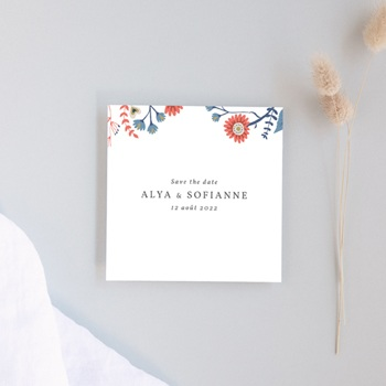 Save-the-date mariage Rhapsody floral, Jour J
