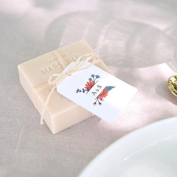 Etiquettes cadeaux mariage Rhapsody floral, Souvenir