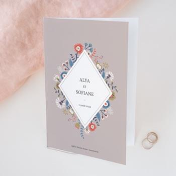 Livret de messe mariage Rhapsody floral, Couverture