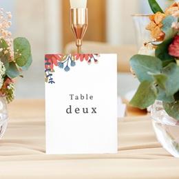 Marque table mariage Rhapsody floral, Lot de 3 gratuit