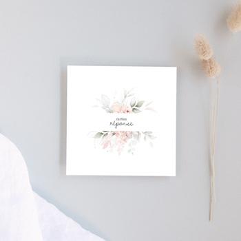 Carton réponse mariage La Roseraie, cocktail & réception
