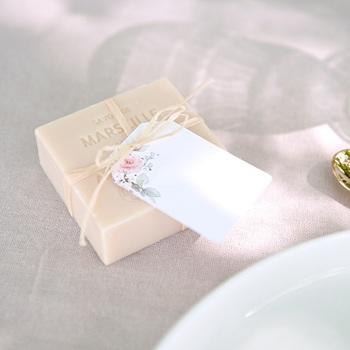 Marque-place mariage La roseraie, 6 x 4 cm