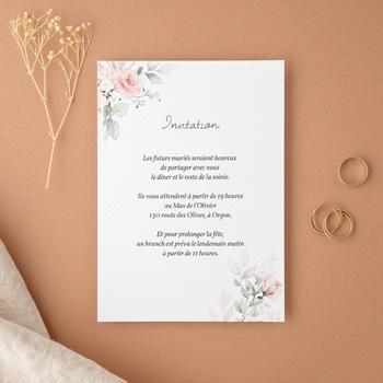 Carte d'invitation mariage La Roseraie, Party & Brunch
