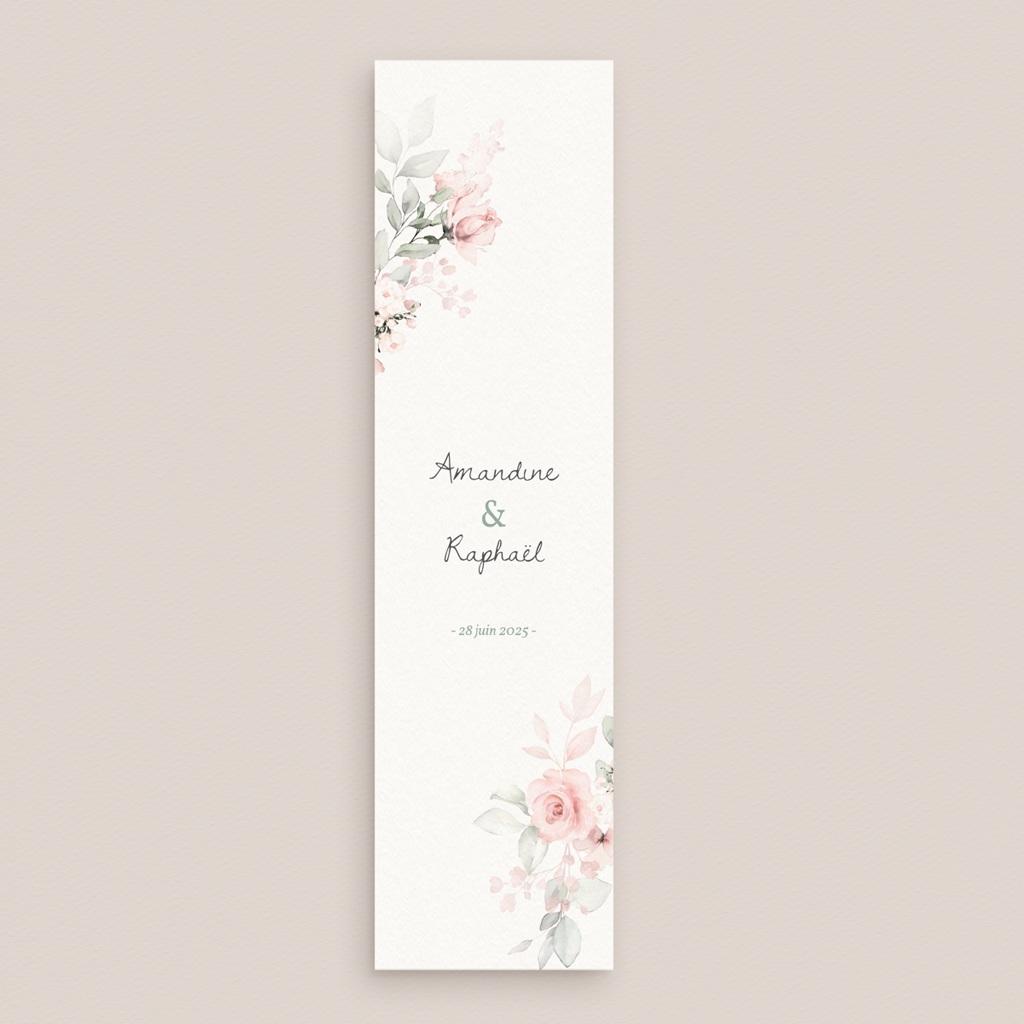 Save-the-date mariage La Roseraie, marque-page gratuit