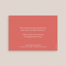 Carte de remerciement mariage Rhapsody, Photo, 14 x 10 pas cher