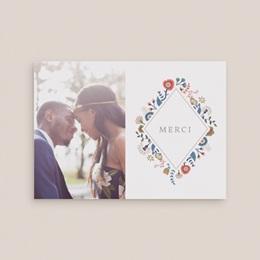 Carte de remerciement mariage Rhapsody, Photo, 14 x 10 gratuit