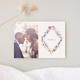 Carte de remerciement mariage Rhapsody, Photo, 14 x 10