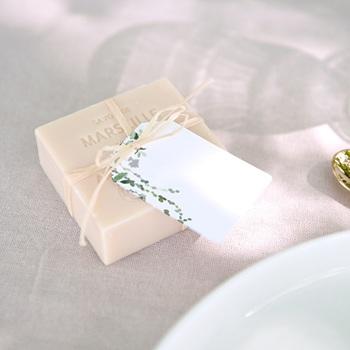 Marque-place mariage Nature végétale, invité placé