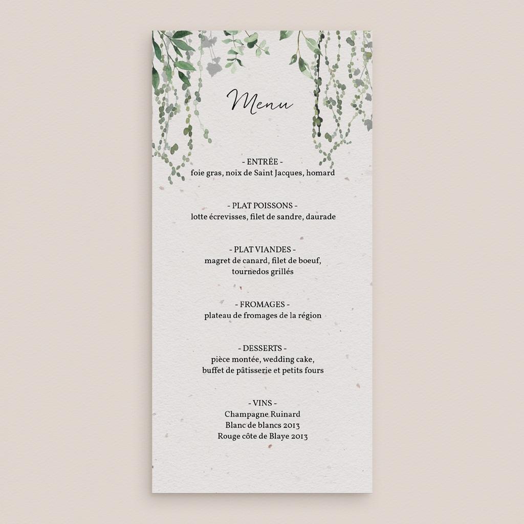 Menu mariage Nature Végétale, 10 x 21 cm gratuit
