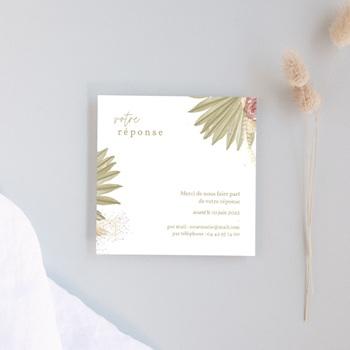 Carton réponse mariage fleur