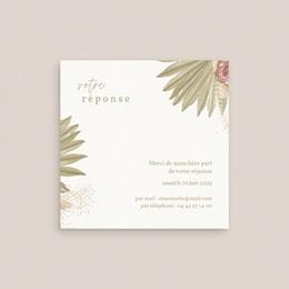 Carton réponse mariage Arche boho, végétal, Rsvp gratuit