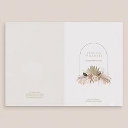 Livret de messe mariage Arche boho, végétal, Couverture 15 x 22 cm gratuit