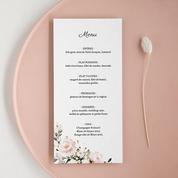 Menu mariage Champêtre Romantique, Repas de noces