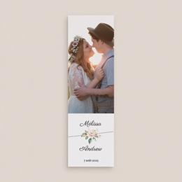Carte de remerciement mariage Champêtre Romantique, 2 en 1 gratuit