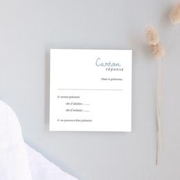 Carton réponse mariage Épousailles en famille, Rsvp 10 x 10