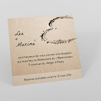 Carte d'invitation mariage La Plage