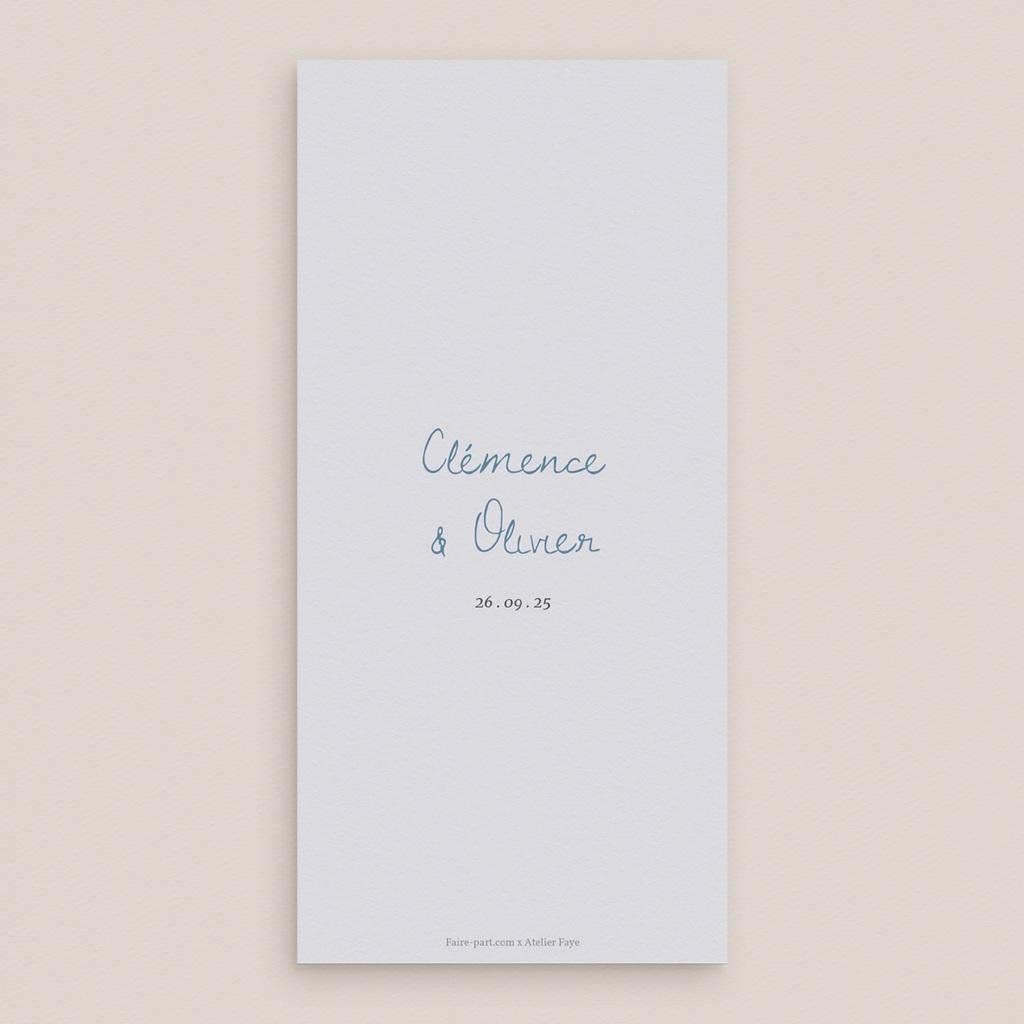 Menu mariage Épousailles en famille, 10 x 21 cm pas cher