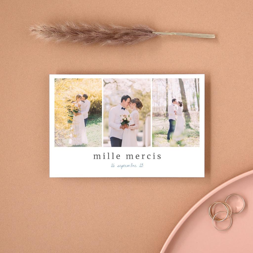 Carte de remerciement mariage Épousailles en famille, 10 x 15 cm