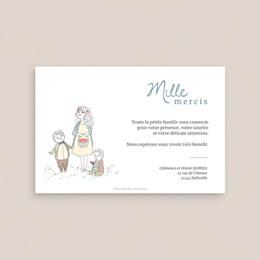 Carte de remerciement mariage Épousailles en famille, 10 x 15 cm pas cher