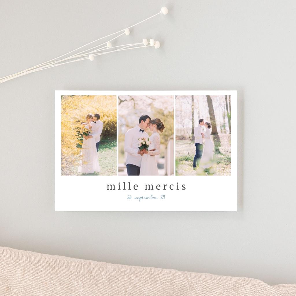 Carte de remerciement mariage Épousailles en famille, 10 x 15 cm gratuit
