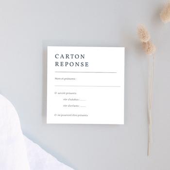 Carton réponse mariage Les Noces d'une Tribu, Rsvp