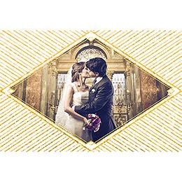Carte de remerciement mariage Mariage années folles blanc gratuit