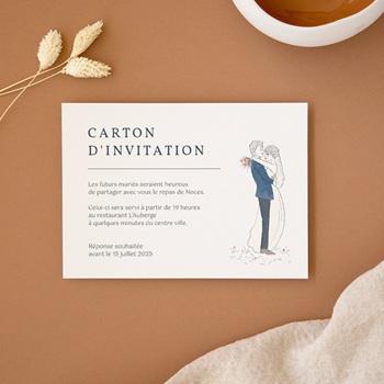 Carte d'invitation mariage Les Noces d'une Tribu, 14 x 10 cm