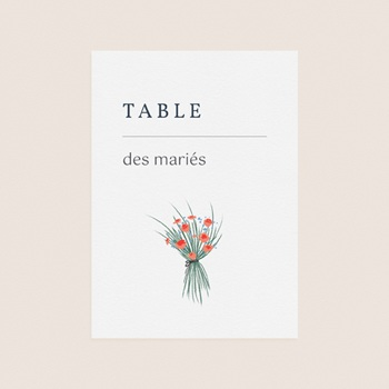 Marque table mariage Les Noces d'une Tribu, Lot de 3