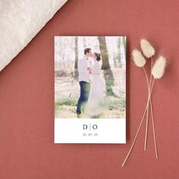 Carte de remerciement mariage Les Noces d'une Tribu, Portrait gratuit