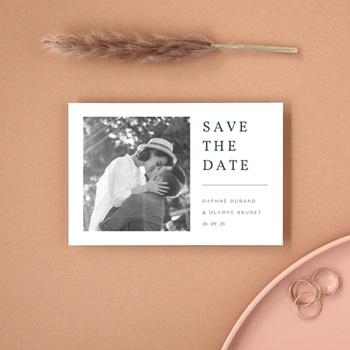 Save-the-date mariage Les Noces d'une Tribu, Portrait, 10 x 15 cm