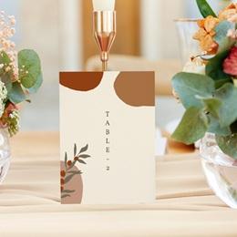 Marque table mariage Olivier Boho, 3 repères gratuit