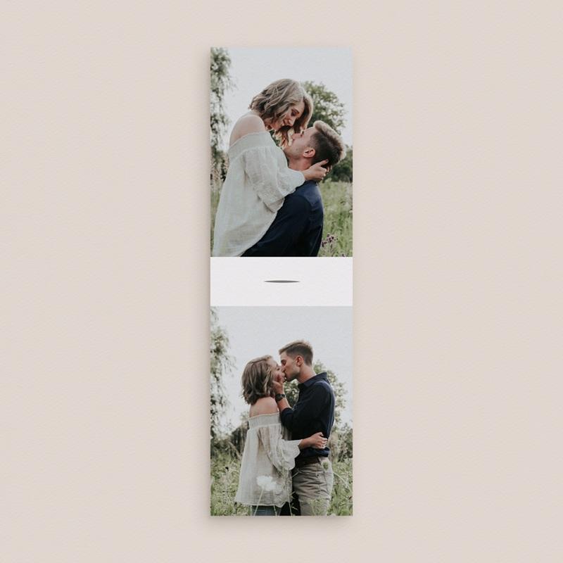 Faire-part de mariage Rameaux d'Olivier, 2 photos, 2 en 1 gratuit