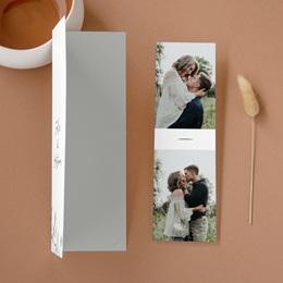Faire-part de mariage Rameaux d'Olivier, 2 photos, 2 en 1