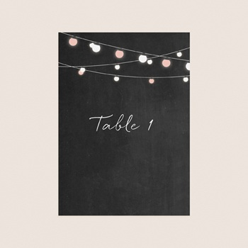 Marque table mariage Perfect Day Ardoise, Lot de 3