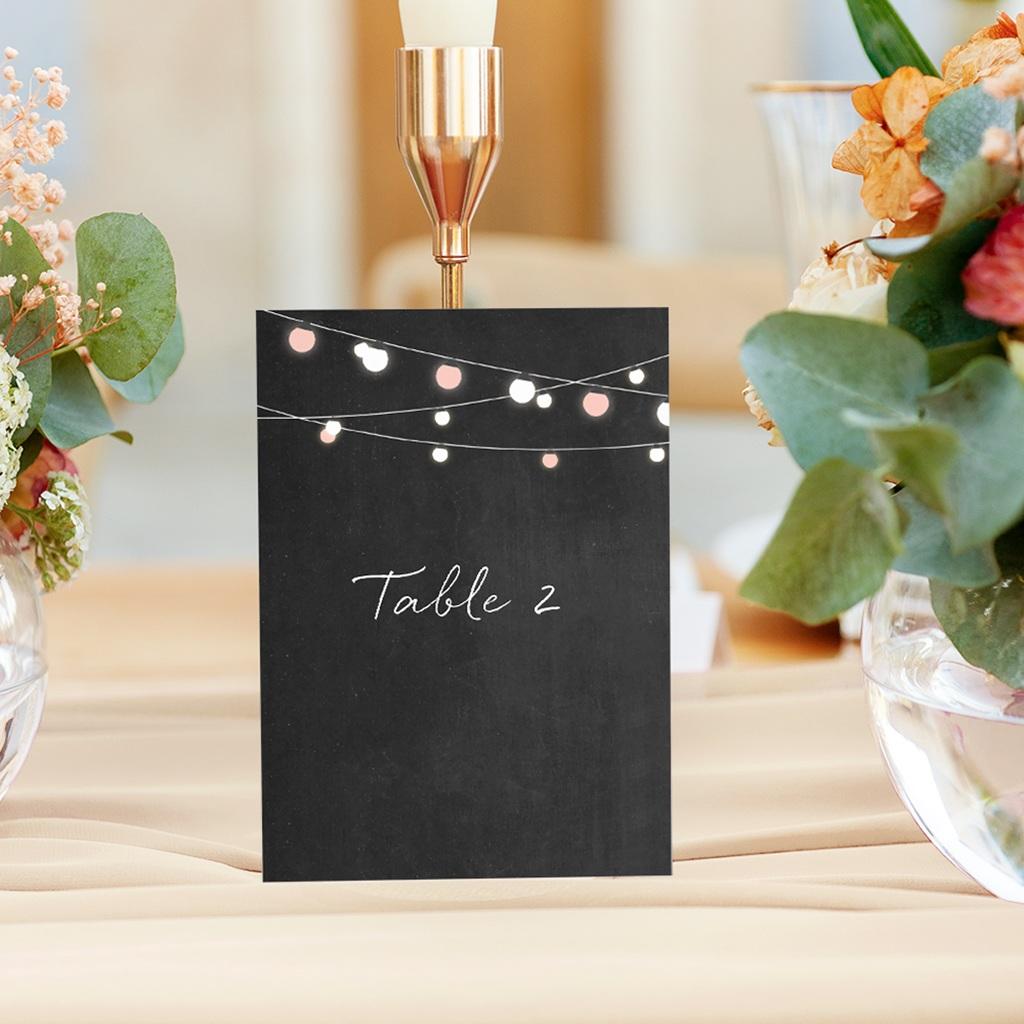 Marque table mariage Perfect Day Ardoise, Lot de 3 gratuit