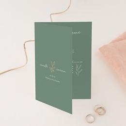 Faire-part de mariage Brin romantique, Vert doré, 12 x 17 cm