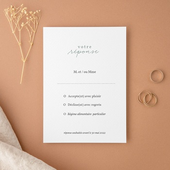 Carton réponse mariage Pastel de Fleurs & Feuillage, Rsvp