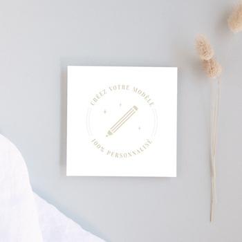 Carton réponse mariage Libre Création Mariage, Simple Volet, 10 x 10 cm