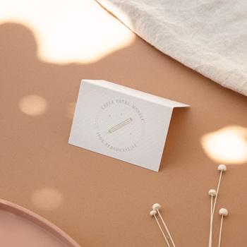 Marque-place mariage Libre Création Mariage, Chevalet Porte-Nom 7,5 x 5,2 cm