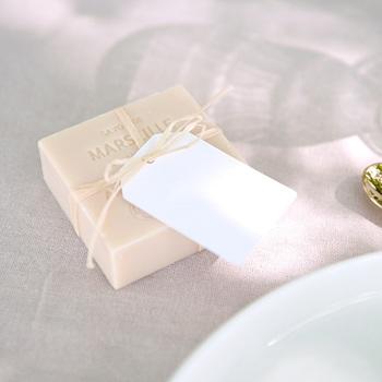 Marque-place mariage Libre Création, Porte-nom 6 x 4 cm, bords biseautés