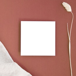 Carte d'invitation mariage Libre Création, Carré simple 10 x 10 cm