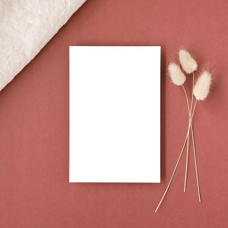 Carte d'invitation mariage Libre Création, volet simple 10 x 15 cm gratuit